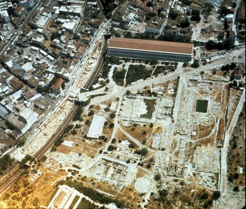 Vestígios da Ágora de Atenas