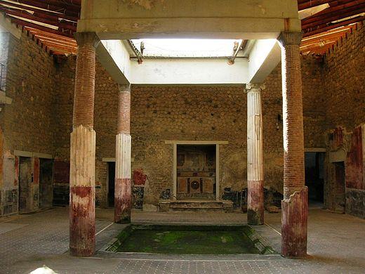 Vestígios de uma casa Romana