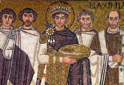 San-Vital-o-cortejo-de-Justiniano-o-maior-imperador-do-Império-bizantino