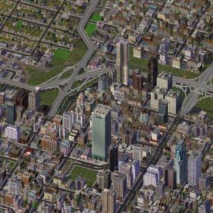 Cidade construída no SimCity